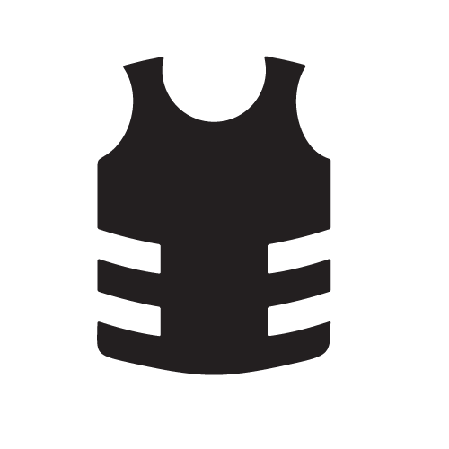 Military vest with marks